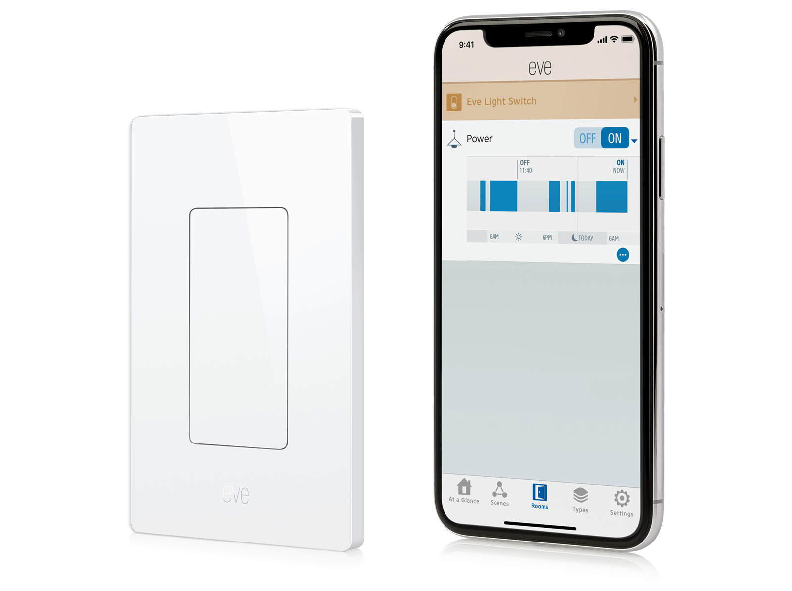 Eve Light Switch Two Way One Bulb Easily Engage Accessories Using The Home App On Your Iphone Ipad Or Ipod Touch And To See Concise Records Gain Insights Enjoy Full Control Of